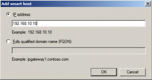 Add Smart Host using IP address