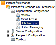 Exchange Hub Transport