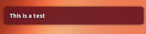 Ubuntu notification pop-up example